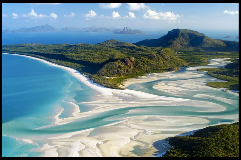 Пляж Белый рай, Пляж Уайтхэвен, Whitehaven Beach, Квинсленд, Queensland, Австралия, Australia