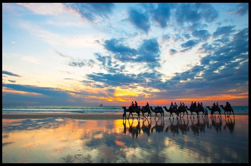 Пляж Кейбл, Cable Beach, Западная Австралия, Western Australia, Австралия, Australia