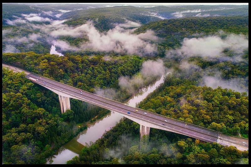 Мост Муни Муни, Mooney Mooney Bridge, Новый Южный Уэльс, New South Wales, Австралия, Australia