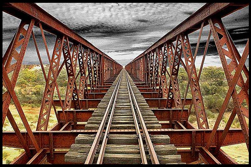 Algebuckina Bridge, Южная Австралия, South Australia, Австралия, Australia