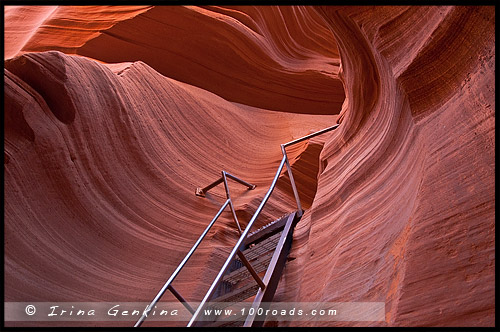 Каньон Антилопы, Antelope Canyon, Аризона, Arizona, США, USA, Америка, America