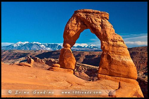 Изящная Арка, Деликатная Арка, Delicate Arch, Национальный парк Арки, Arches National Park, Юта, Utah, США, USA, Америка, America