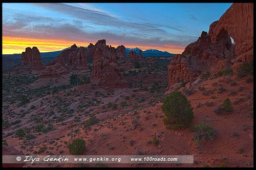 Национальный парк Арки, Arches National Park, Юта, Utah, США, USA, Америка, America