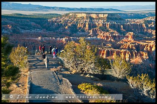 Закат, Амфитеатр Брайс, Bryce Amphitheater, Каньон Брайс, Bryce Canyon, Юта, Utah, США, USA, Америка, America