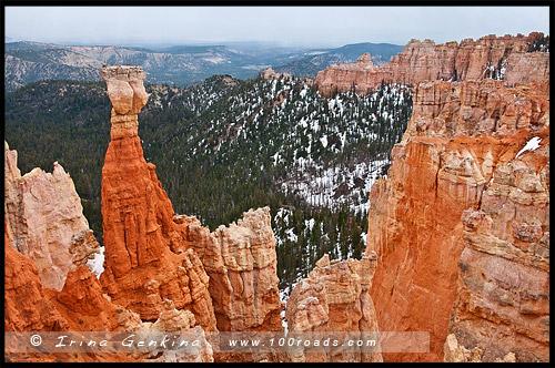 Агуа Каньон, Agua Canyon, Каньон Брайс, Bryce Canyon, Юта, Utah, США, USA, Америка, America