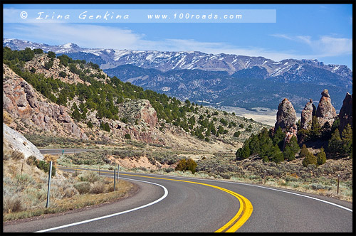Дорога, Каньон Брайс, Bryce Canyon, Юта, Utah, США, USA, Америка, America
