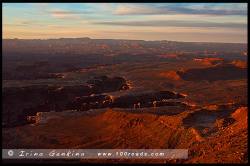 Остров в небе, Island in the Sky District, Национальный парк Каньонлэндс, Canyonlands National Park, Юта, Utah, США, USA, Америка, America