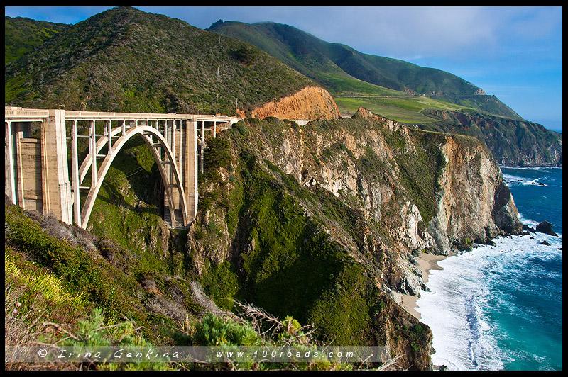Мост Биксби, Bixby Bridge, Биг Сюр, Big Sur, Калифорния, California, США, USA, Америка, America