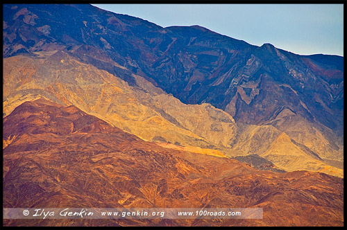 Дорога Художника, Artist drive, Долина Смерти, Death Valley, Калифорния, California, СЩА, USA, Америка, America