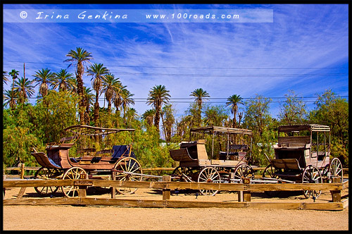 Музей под открытым небом, Furnace Creek Ranch, Долина Смерти, Death Valley, Калифорния, California, СЩА, USA, Америка, America