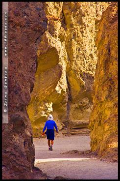 Золотой каньон, Golden Canyon, Долина Смерти, Death Valley, Калифорния, California, СЩА, USA, Америка, America