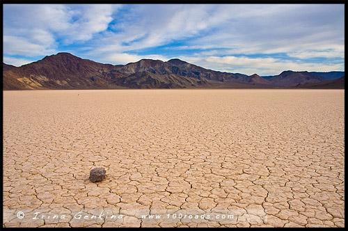 Рейстрейк Плайя, Racetrack Playa, Долина Смерти, Death Valley, Калифорния, California, СЩА, USA, Америка, America