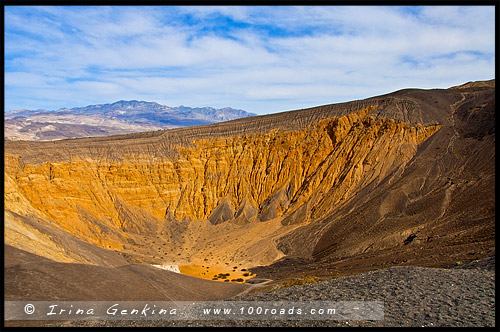 Кратер Убехебе, Ubehebe Crater, Долина Смерти, Death Valley, Калифорния, California, СЩА, USA, Америка, America