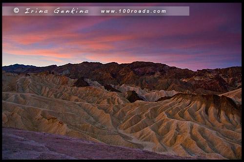 Забриски Пойнт, Zabriskie Point, Долина Смерти, Death Valley, Калифорния, California, СЩА, USA, Америка, America