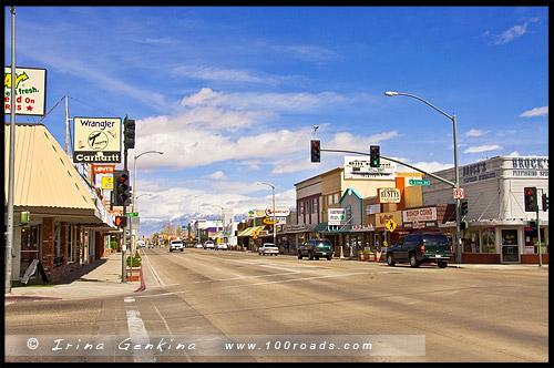 Шоссе 395, US Route 395, Дорога, Калифорния, California, СЩА, USA, Америка, America