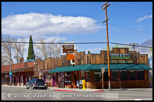 Одинокая Сосна, Lone Pine, Шоссе 395, US Route 395, Дорога, Калифорния, California, СЩА, USA, Америка, America