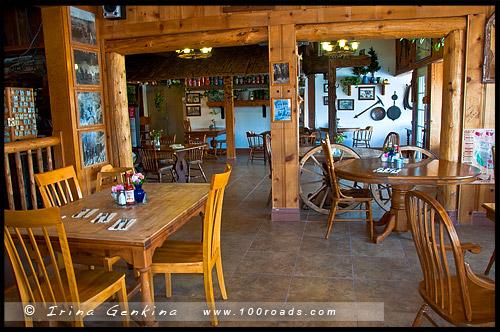 Totem Cafe, Одинокая Сосна, Lone Pine, Шоссе 395, US Route 395, Дорога, Калифорния, California, СЩА, USA, Америка, America