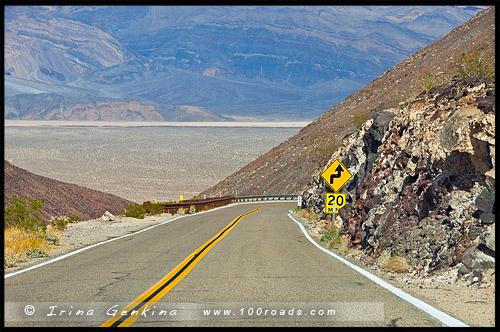 Шоссе 190, US Route 190, Дорога, Калифорния, California, СЩА, USA, Америка, America