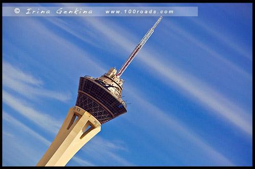 Башня отеля-казино Стратосфера, Stratosphere, Лас Вегас, Las Vegas, Невада, Nevada, США, USA, Америка, America