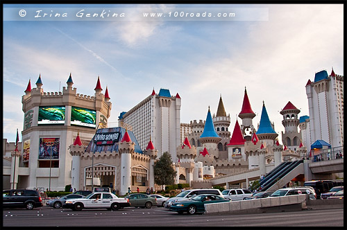 Отель-казино Экскалибур, Excalibur Hotel and Casino, Стрип, The Strip, Las Vegas Boulevard, Лас Вегас, Las Vegas, Невада, Nevada, США, USA, Америка, America