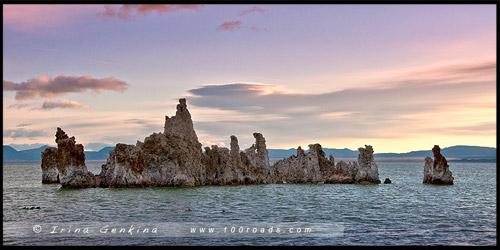 Южный туф, South Tufa, Озеро Моно, Mono Lake, Калифорния, California, СЩА, USA, Америка, America