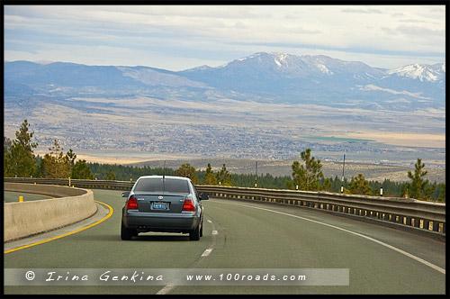 Вид с дороги на Карсон Сити, Carson City, Невада, Nevada, США, USA, Америка, America