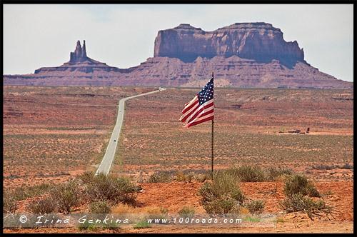 Дорога к Долине Монументов, Way to Monument Valley, Юта, Utah, США, USA, Америка, America