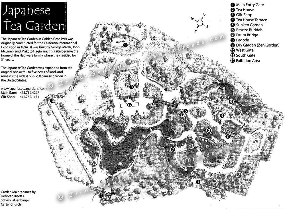 Схема Японского чайного сада