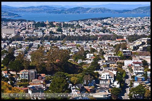 Твин Пикс Twin Peaks, Сан Франциско, San Francisco, Калифорния, California, СЩА, USA, Америка, America